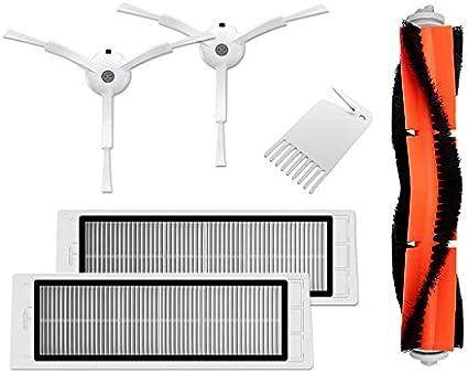 Xiaomi MI Robot aspiradora, Roborock Suction, juego de piezas de repuesto de robot, 6 piezas, filtro Hepa, cepillo principal, cepillo lateral, juego de cepillos SparPack: Amazon.es: Electrónica