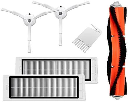 Accesorios para Xiaomi Mi Robot aspiradora, 2 filtro Hepa, 2 cepillo lateral, 1 cepillo principal, 1 herramienta de limpieza: Amazon.es: Hogar
