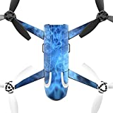 MightySkins Skin for Parrot Bebop 2 - Blue Mystic Flames | Protective, Durable, and Unique Vinyl Decal wrap Cover | Easy to Apply, Remove, and Change Styles | Made in The USA
