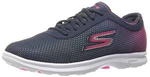 Skechers Go Step Prismatic Womens Zapatilla De Fitness - SS17 Azul Marino/Rosa