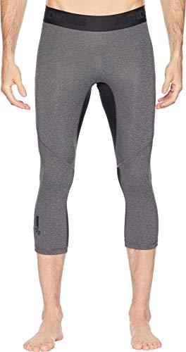 adidas Mens Training Alphaskin Sport 3/4 Tights, Dark Grey Heather/Black, Medium