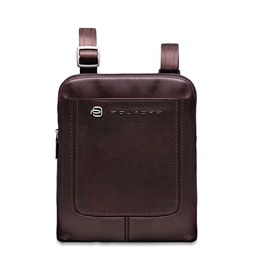 Piquadro Organized Shoulder Pocketbook with iPad Compartment, Dark Brown, One Size by Piquadro