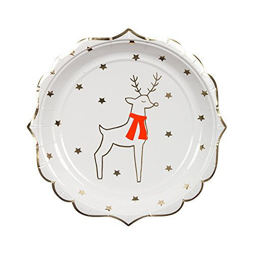 Meri Meri Reindeer & Stars Christmas Plates (small)