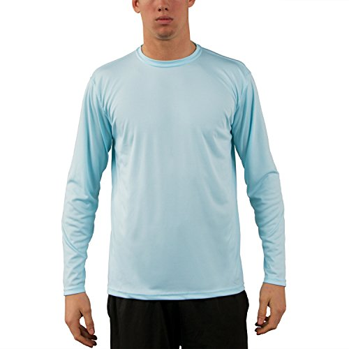 Vapor Apparel Men's UPF 50+ Sun Protection Performance Long Sleeve T-Shirt Medium Arctic Blue