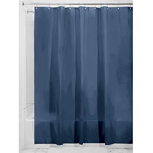 InterDesign Mildew-Free EVA 5.5 Gauge Shower Liner, 72 x 72, Navy (Cell Shower Curtain)
