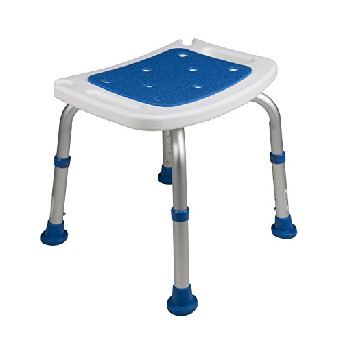Pcp Bath Bench Shower Chair Safety Seat, Adjustable Height, Stability Grip Traction, Medical Grade Senior Living Spa Aid, Mobility Recovery Support, White/Blue by PCP (Image #8)