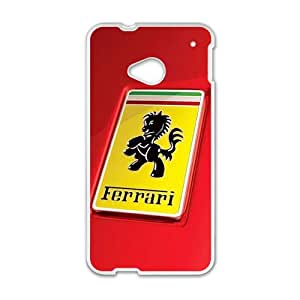 QQQO Ferrari sign fashion cell phone case for HTC One M7