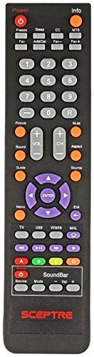 Sceptre TV U50 Remote (Certified Refurbished)