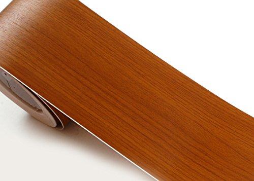 ROSEROSA Peel & Stick Premium Wood Backsplash Wall Paper & Border Sticker Self-Adhesive Wallpaper Shelf Liner Table and Door Reform (KW027B : 3.93 inch X 16.40 feet) - Wood Cherry Wall