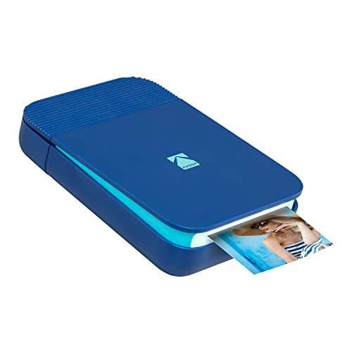 chollos oferta descuentos barato KODAK Smile Impresora digital instantánea desplegable con Bluetooth para iOS y Android Edite imprima y comparta con la aplicación Smile 2x3 Papel ZINK Azul