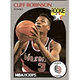 CLIFF ROBINSON ROOKIE, NBA HOOPS, 1990 PORTLAND TRAILBLAZERS