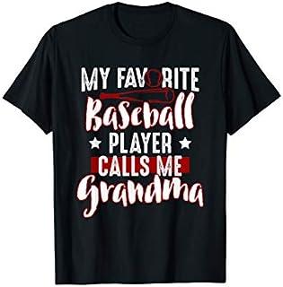 Nana  Gift My Favorite Baseball Player Calls Me Grandma T-shirt | Size S - 5XL