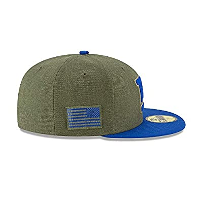 New Era 59Fifty Hat New York Giants On-Field Salute to Service Green Fitted Cap