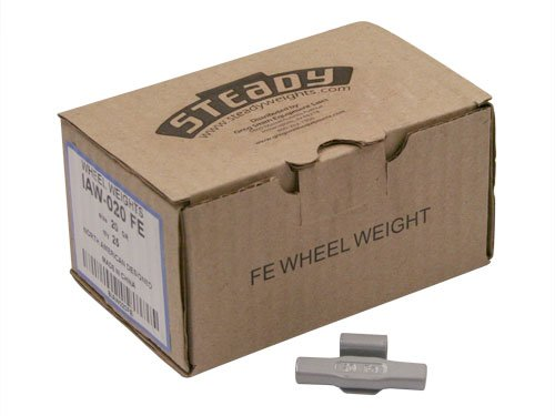 Box of 25 Coated IAW Wheel Weights 20 gram Fortune