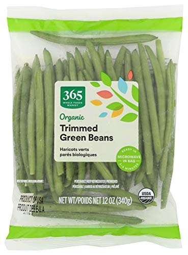 365 through Whole Foods Market, Organic Packaged Vegetables, Green Beans - Trimmed, 12 Ounce