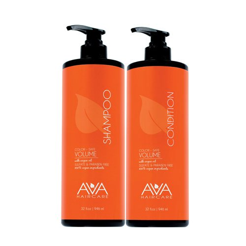 Ava Haircare - Volume Shampoo And Conditioner - Vegan, Sulphate Free, Paraben Free, Cruelty Free (Set of 2, 33oz Each) 1