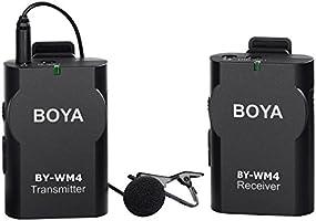 BOYA sistema de Micrófono de Solapa Inalámbrico para Canon Nikon ...