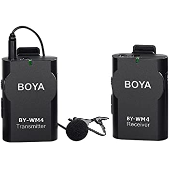 New BOYA BY-WM4 Universal Lavalier Wireless Microphone Mic with Real-time Monitor for IOS iPhone 8 8 plus 7 7 plus 6 6s Smartphone iPad Tablet DSLR Camera Sony RX0 Camcorder Audio Recorder PC Video