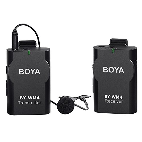 New BOYA BY-WM4 Universal Lavalier Wireless Microphone Mic with Real-time Monitor for IOS iPhone 7 7 plus 6 6s Smartphone Tablet DSLR Camera Camcorder Audio Recorder PC Video - Microphone Real