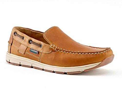 Chatham Slip-On Tan Leather Deck Shoes Men's - Avery K4vJf9FO