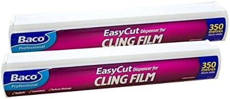 Bacofoil 450Mm X 350M Easycut Clingfilm /& Dispenser 1 Packbacofoil