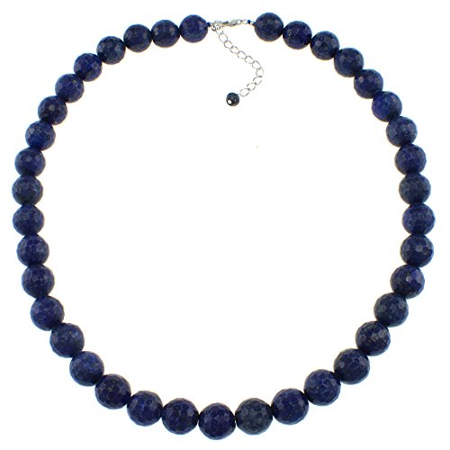 Lapis Blue Check - Pearlz Ocean Lapis Lazuli Blue Beads Strand Necklace for women
