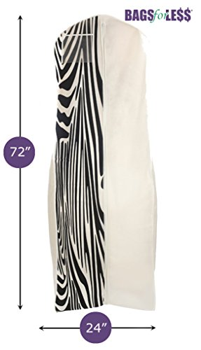 Bags for Less™ Breathable Wedding Dress Garment Bag, Zebra Print