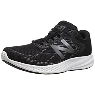 New Balance Women's 490 V6 Running Shoe, Black/Grey, 5.5 D US