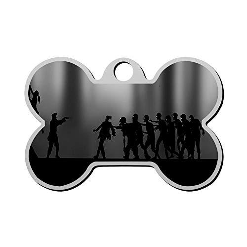Kafne Zombie Personalized pet ID tag cat tag and Dog tag - Bone Shaped Identification tag]()