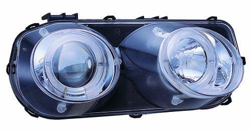 Acura Integra Headlight (IPCW CWS-107C2 Acura Integra Chrome Projector Head Lamp with Rings - Pair)