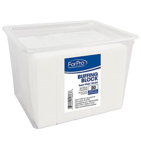 For Pro Super White Buffing Block 120 Grit, 20 Count