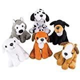 Bedwina Plush Puppy Dogs - (Pack of 12) 6 Inches Tall Stuffed Animals Bulk Assorted Puppies and Cute Stuffed Plushed Dog Puppies Assortment