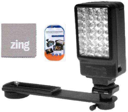 Deluxe 5500K LED Video Light For Canon Vixia HFS10 HFS11 HFS20 HFS21 HFS30 HFS100 HFS200 Camcorder + More!!