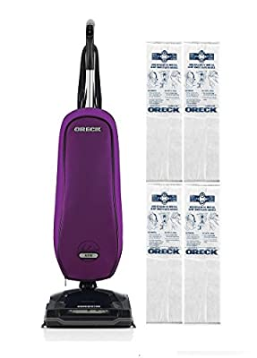 Oreck Upright Vacuum Cleaner Axis with 4 HEPA Bags Bundle | 3 YEAR Warranty | 2 Tune Ups | Carpets, Tile and Hardwood Flooring | Dirt, Debris, Pet Hair | Lightweight, High-Suction Clean