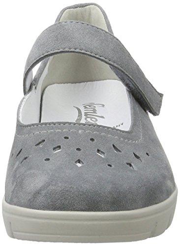 Semler J7095-042, Scarpe Mary Jane Donna Grigio (Jeans)