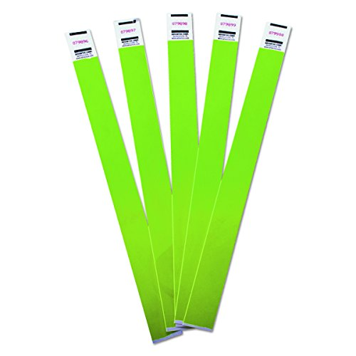 ADVANTUS Crowd Management Tyvek Wristbands, Sequentially Numbered, Green, Pack of 500 (75511)