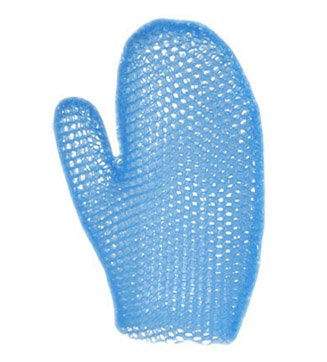 Supracor Spa Bath Mitt Body Exfoliator Face Antibacterial Scrub Sponge, Blue
