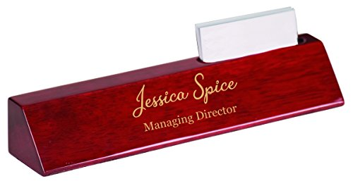 Personalized Office Desk Name Plate - Over 30 Different Design (Business Card Holder 10.5