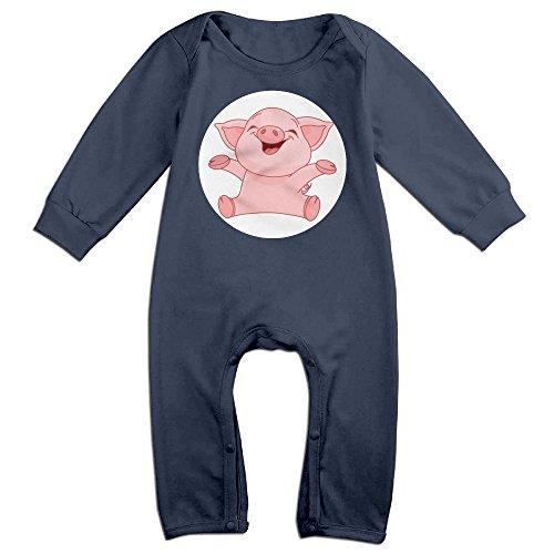 Albany Ny Costumes (Baby Girls Boys Piggy Long Sleeve Climb Clothes 6 M Navy)