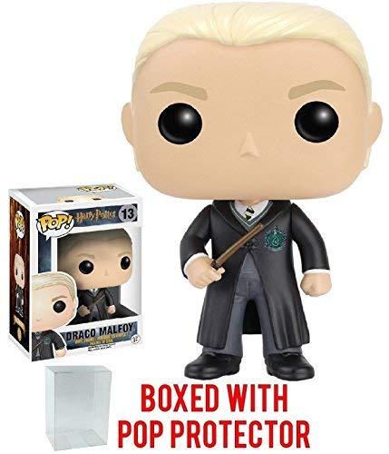 (Funko Pop! Movies: Harry Potter - Draco Malfoy #13 Vinyl Figure (Bundled with Pop Box Protector Case))