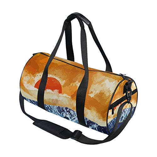 Large Duffel Bag Amber Dusk Canvas Sports Gym Bag for Men Women