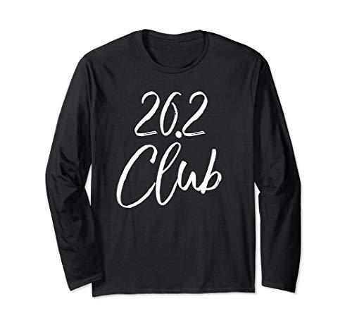 (Marathon Finisher Gift for Runners Running Gear 26.2 Club Long Sleeve T-Shirt)