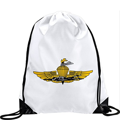 Large Drawstring Bag with US Marine Corps Force Reconnaissance, branch insignia - Long lasting vibrant image by ExpressItBest