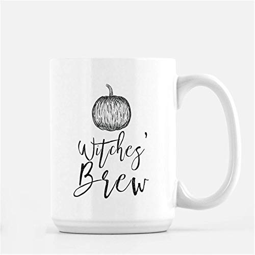 Witches Brew Halloween Mug Autumn Mug Fall Coffee Mug Pumpkin Latte Coffee Mug Cool Coffee Mugs Gift for Her Gift for Mom Tea Cup for $<!--$10.99-->
