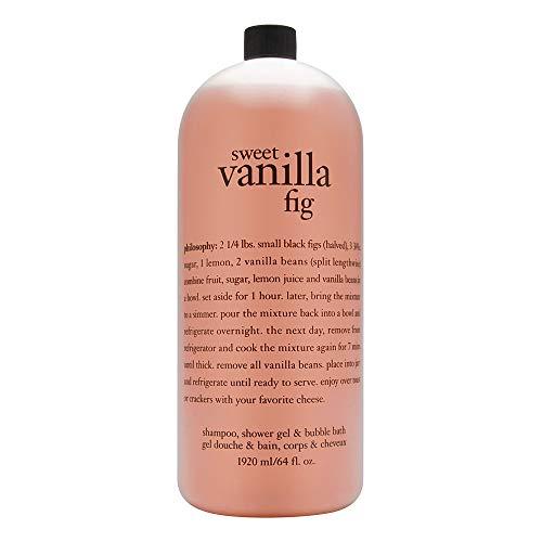 Philosophy Mega-Size 3-in-1 Shampoo, Shower Gel & bubble Bath 64 fl. oz. (Sweet Vanilla Fig)