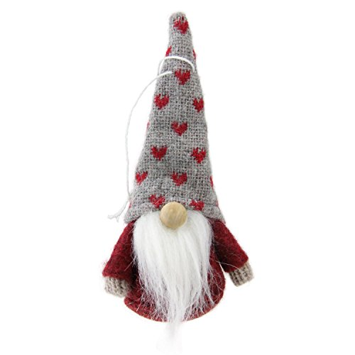 Northlight Set of 3 Red, Brown and Gray Santa Gnome Christmas Ornament Decorations 4.5'' by Northlight (Image #3)