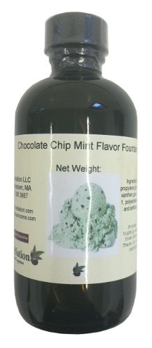 OliveNation Flavor Fountain, Chocolate Chip Mint, 4 Ounce (Mint Sherbet)