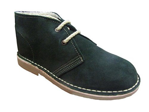807FB - Desert boot lined, unisex adult, dark green, size: 3 UK