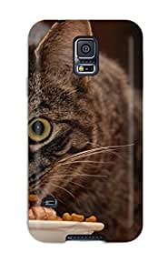 Sanp On Case Cover Protector For Galaxy S5 (hungry Cat)