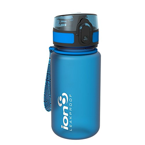 Ion8 Leak Proof Kids Water Bottle, BPA Free, 350ml/12oz, Frosted Blue